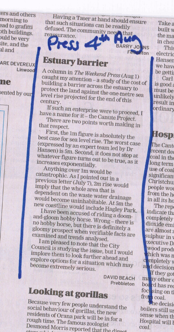 Letter to Chch Press 4 Aug 2015