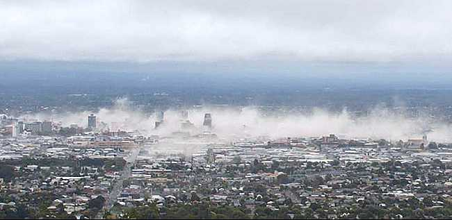 the beginning of the Christchurch earthquakes