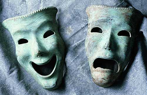 classic tragi-comic masks