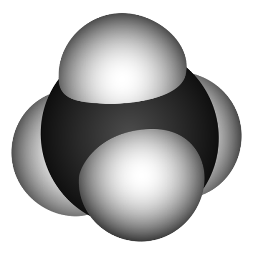 The methane molecule