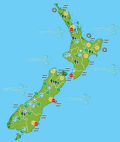 MfE NZ climate impact map