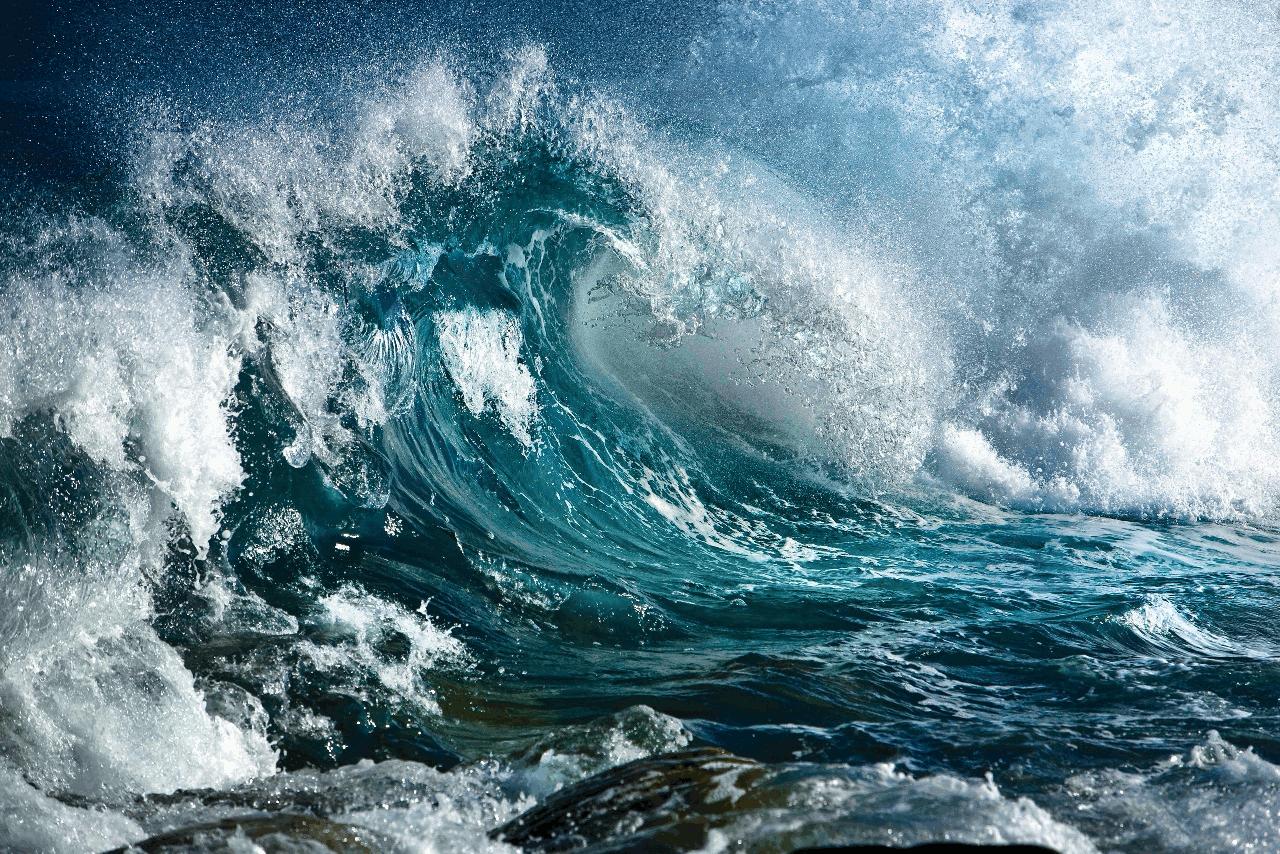 a turbulent ocean