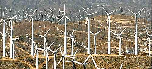 An ugly windfarm near Palm Springs, California.