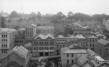 1910. Looking east to Albert Park 1902 from the city.