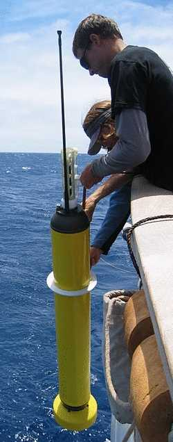 Argo buoy being deployed