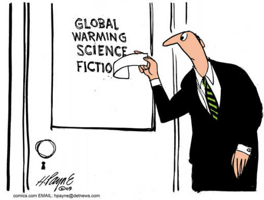 Global Warming Science Fiction cartoon