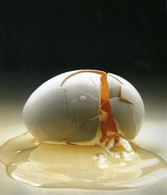 A cracked egg