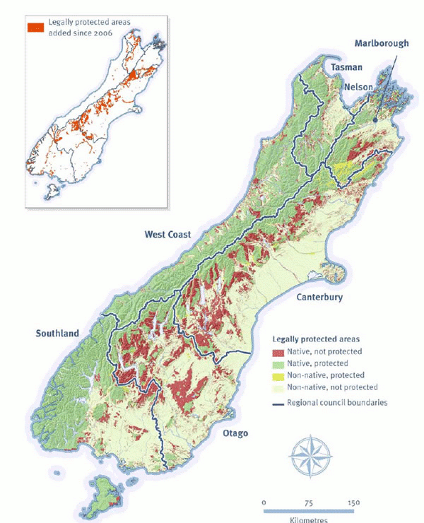 Crown land in the South Island