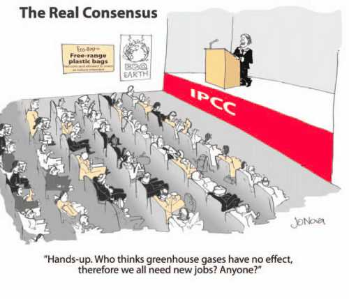 the real consensus - cartoon by Jo Nova