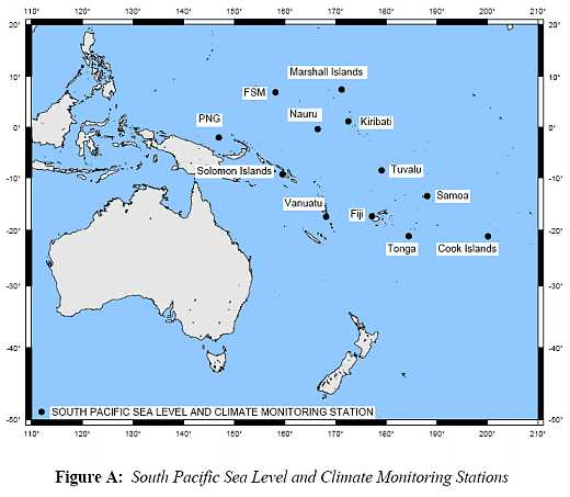 countries in sea level monitoring project