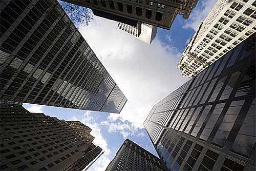 Vertiginous skyscrapers